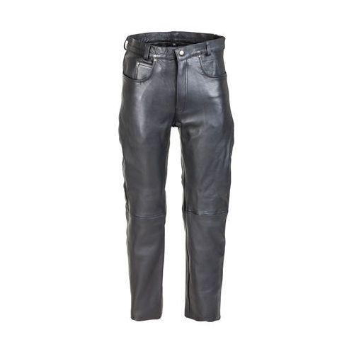 Spodnie motocyklowe męskie, Męskie skórzane spodnie motocyklowe W-TEC Roster NF-1250, Czarny, 34