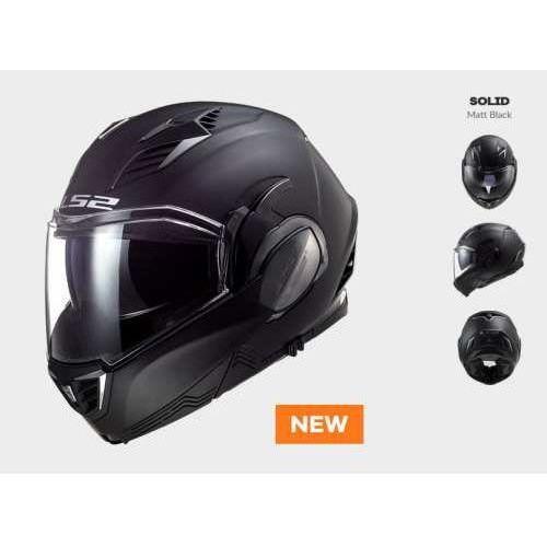 Kaski motocyklowe, KASK MOTOCYKLOWY LS2 FF900 VALIANT II SOLID MATT BLACK nowość 2020 roku