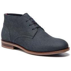 Trzewiki TOMMY HILFIGER - Dress Casual Nubuck Boot FM0FM02115 Midnight 403