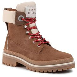 Trapery TOMMY HILFIGER - Sporty Outdoor Lace Up Bootie FW0FW04343 Chipmunk 200