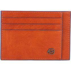 Piquadro Square Special Etui na karty bankowe RFID skórzana 11 cm orange ZAPISZ SIĘ DO NASZEGO NEWSLETTERA, A OTRZYMASZ VOUCHER Z 15% ZNIŻKĄ
