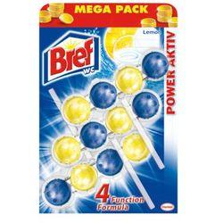 BREF 3x50g Power active Lemon zawieszka do muszli Wc Mega Pack