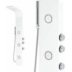 Biały panel prysznicowy z hydromasażem INEA 150x20