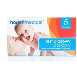Test ciążowy paskowy Horienmedical GT-002 x 5 sztuk w opakowaniu