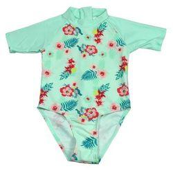 Strój kąpielowy kombinezon dzieci 108cm filtr UV50+ - Mint Floral \ 108cm