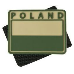 naszywka emblemat FLAGA PL kpl. 2szt. PVC beż (OD-FP2-RB-13)