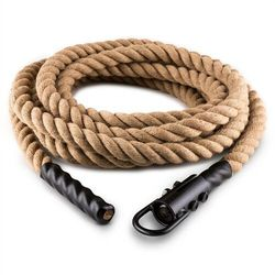 Capital Sports Power Rope H6 Lina z hakiem 6 m 3,8 cm Lina konopna Lina do ćwiczeń siłowych