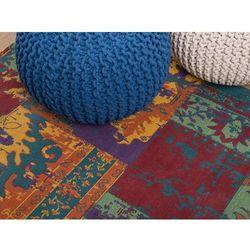 Dywan kolorowy - 160x230 cm - poliester - bawełna - handmade - TOSYA