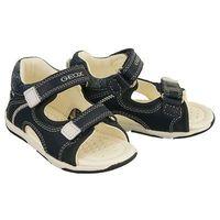 Sandały dziecięce, GEOX B720XA TAPUZ 08532 C4211 morski/biały, sandały dziecięce, rozmiary 20-25