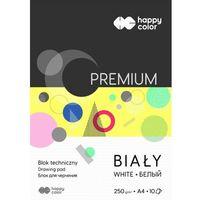 Bloki, Blok techniczny Happy Color PREMIUM A4 10 arkuszy biały