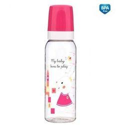 CANPOL 11/840 Butelka dekorowana 250 ml BPA 0% Sweet fun różowa