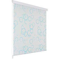Roleta prysznicowa 140 x 240 cm, wzór w bąbelki