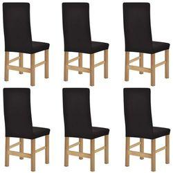 vidaXL Elastyczne pokrowce na krzesła, 6 szt, brązowe Darmowa wysyłka i zwroty