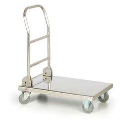 Składany nierdzewny wózek platformowy, 150 kg, platforma 720x410 mm