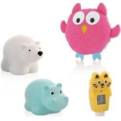 Zestaw do kąpieli MINILAND termometr + gąbka + 2 gumowe zabawki