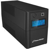 UPSy, PowerWalker UPS LINE-INTERACTIVE 850VA 2X 230V PL OUT, RJ11 IN/OUT, USB, LCD DARMOWA DOSTAWA DO 400 SALONÓW !!