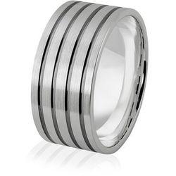 Obrączka srebrna męska szeroka - wzór Ag-382
