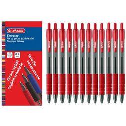 12x długopis żelowy Smoothy 0,7mm czerwony HERLITZ - czerwony
