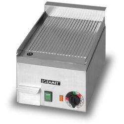Płyta grillowa elektryczna, ryflowana, 2 kW, 272x390x200 mm | LOZAMET, LR.1.3