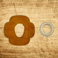 Akcesoria do sportów walki, tsuba skórzana 5mm z tsuba dome