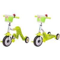 Hulajnogi, Hulajnoga trójkołowa rowerek dla dzieci 2w1 WORKER Blagrie, Zielony
