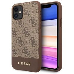 Etui Guess GUHCN61G4GLBR iPhone 11 brązowy/brown hard case 4G Stripe Collection