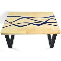 Stolik kawowy drewniany Ves 90x60 cm
