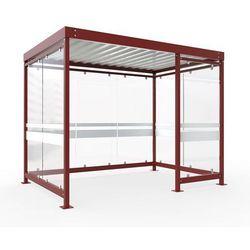 Zadaszenie z dachem stalowym, wys. 2510 mm, szer. x głęb. 3180x2165 mm, otwarta