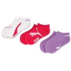 Zestaw 3 par niskich skarpet unisex PUMA - 886450 Beetroot Purple/White/Purple 03