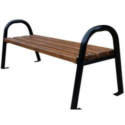 Ławka ogrodowa stalowa z rur bez oparcia 180 cm Fiemar