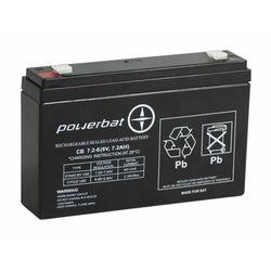 Akumulator żelowy POWERBAT CB 7,2-6 6V 7,2Ah