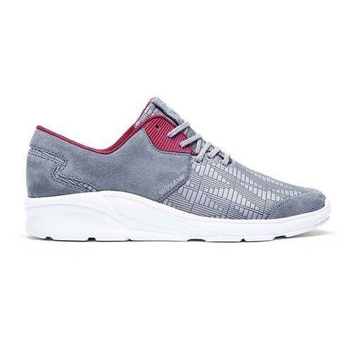 Męskie obuwie sportowe, buty SUPRA - Noiz Steel/Burgundy-White (STL) rozmiar: 46