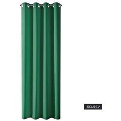 SELSEY Zasłona na przelotkach Elettaria 135x250 cm zielona