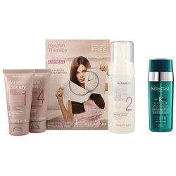 Alfaparf Keratin Therapy Smoothing Treatment Kit and Therapiste | Zestaw do włosów: keratynowe prostowanie włosów + serum do zniszczonych końcówek 30ml