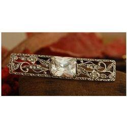 SALVA - srebrna broszka brosza z kryształem