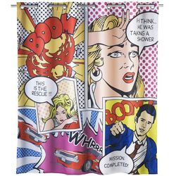 Zasłona prysznicowa Pop Art, tekstylna, 180x200 cm, WENKO