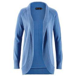 Sweter bez zapięcia bonprix kryształowy niebieski