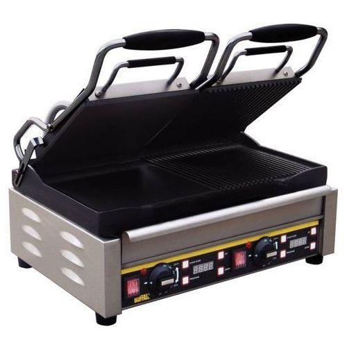 Grille gastronomiczne, Grill kontaktowy żeliwny podwójny ryflowany/gładki | 2900W