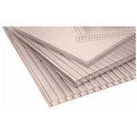 Pozostałe artykuły dachowe, Płyta poliwęglan komorowy Palram dymiona 0,98 x 2 m 10 mm 1,96 m2