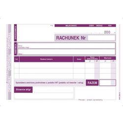 Rachunek dla zwolnionych z VAT A6 (poziom) (0+1K) MICHALCZYK I PROKOP - G1039
