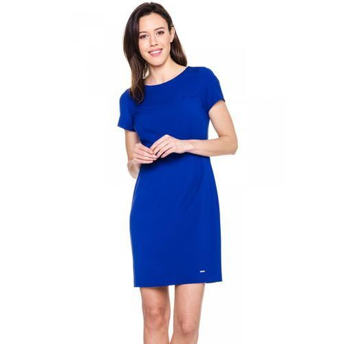 Suknie i sukienki, Niebieska, dopasowana sukienka - Sobora