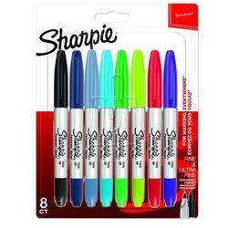 Markery Sharpie zestaw 8 kolorów podwójne 2065409