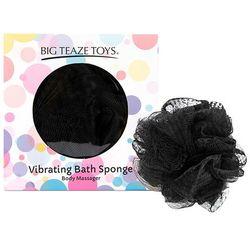 Wibrująca gąbka do kąpieli - Big Teaze Toys Bath Sponge Vibrating Czarny