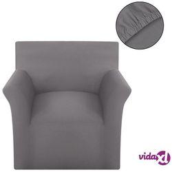 vidaXL Elastyczny pokrowiec na sofę, bawełniany, szary Darmowa wysyłka i zwroty