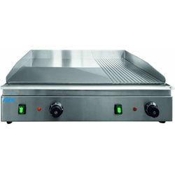 Płyta grillowa elektryczna 2/3 gładka 1/3 ryflowana nastawna | 688x410mm | 3500W
