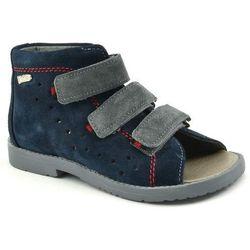 Dziecięce buty profilaktyczne Dawid 1042 - Granatowy ||Szary