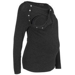 Sweter ciążowy /do karmienia piersią bonprix antracytowy melanż