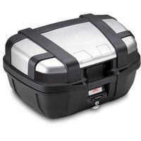 Kufry i bagażniki motocyklowe, Kufer Givi TRK52N Trekker (czarno-srebrny, 52 litry)