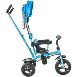 Rowerek Trójkołowy - pompowane koła - TOBI PLAY niebieski