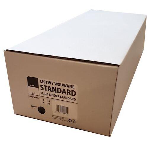 Grzbiety do bindownic, Listwy do bindowania wsuwane standard Argo, niebieskie, 4 mm, 50 sztuk, oprawa do 10 kartek - Autoryzowana dystrybucja - Szybka dostawa - Tel.(34)366-72-72 - sklep@solokolos.pl
